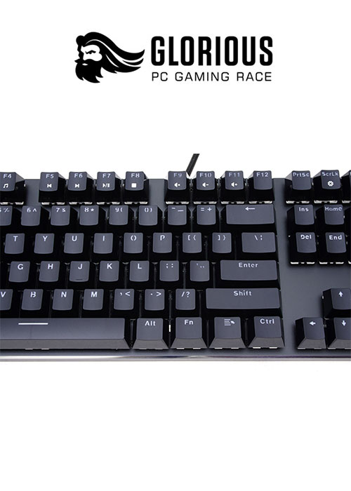 Keyboard Full Size- PreBuilt - Black (Glorious)