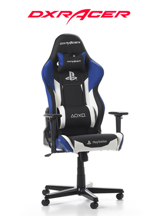 DXRACER Racing Gaming Chair Playstation Special Edition Black/Blue
