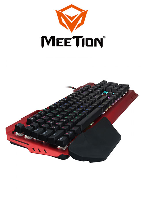 Lina Inverse RGB Backlite Mechanical Gaming Keyboard- Red (Meetion)