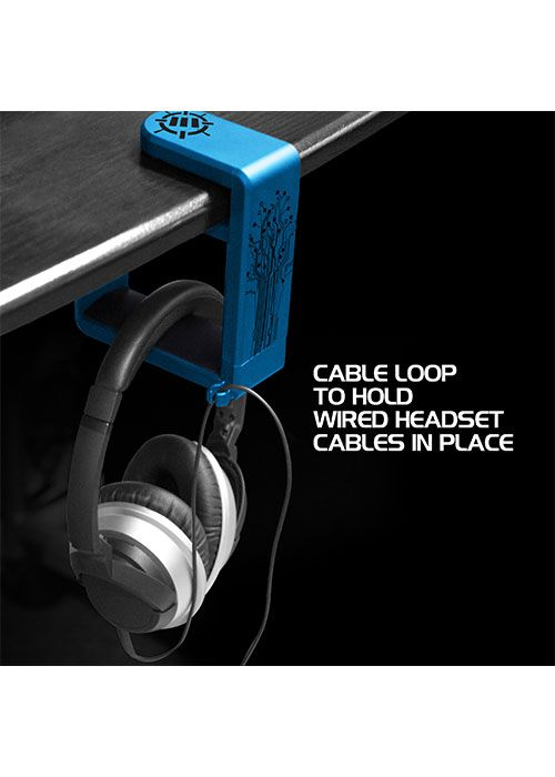 Rotating Headphone Mount - Blue (ENHANCE)