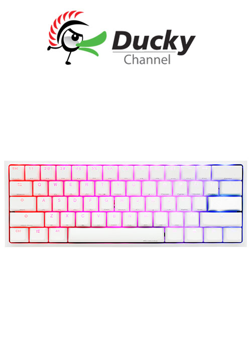 Ducky One 2 Mini V2 Pure White RGB RED SWITCH