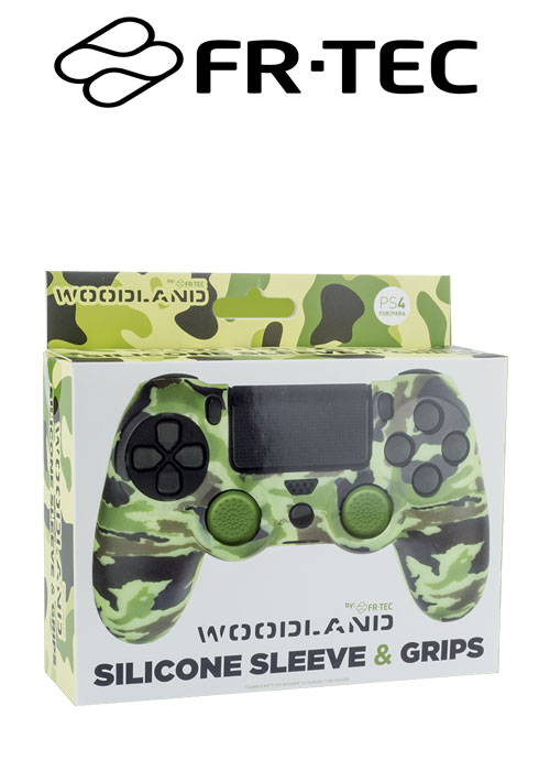 FR-TEC PS4 Protector silicone + Grips Camo Woodland