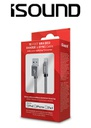 ISOUND 10FT BRAIDED LIGHTNING CABLE - SILVER