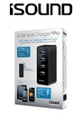 ISOUND 4 USB WALL CHARGER PRO - BLACK