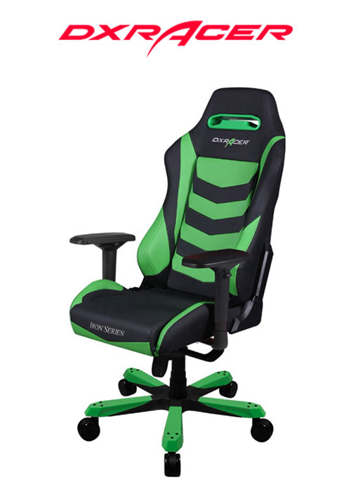 DXRACER CHAIR IRON BLACK/GREEN