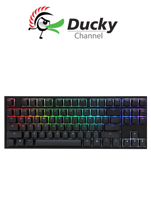 Ducky One 2 TKL RGB Gaming Keyboard - Silent Red Switch