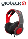 Gioteck TX-30 Stereo 'Game & Go' Wired Headset Red/Grey