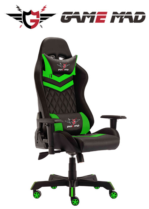 Game Mad Gaming Chair Moving Light RGB - Black/Green