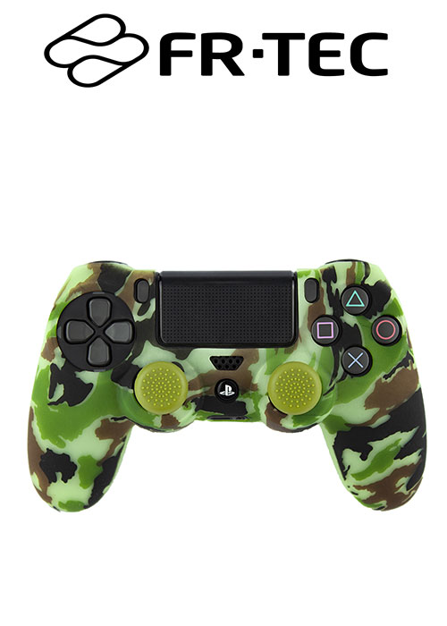 FR-TEC PS4 silicone + Grips Camo Woodland