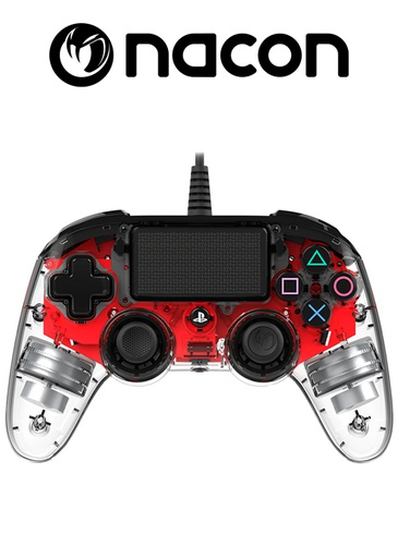 [204093] Nacon PS4 Wired Compact Controller Crystal Red