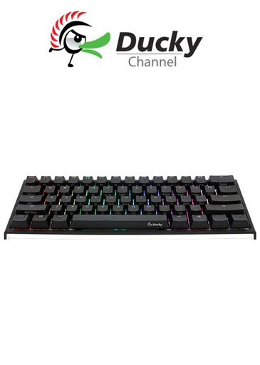 [675958] Ducky One 2 Mini (V2) RGB DS PBT Red Cherry MX Mechanical Keyboard - Black/White