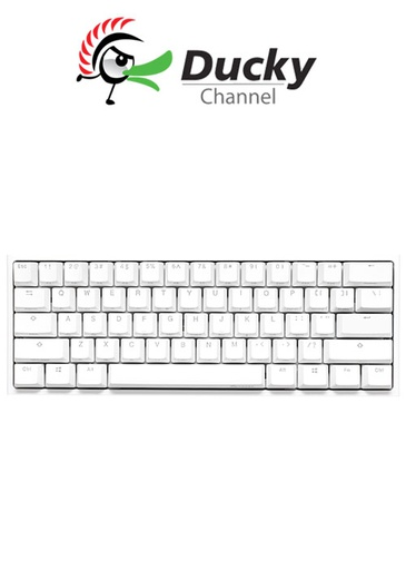 [675960] Ducky One 2 Mini V2 Pure White RGB RED SWITCH