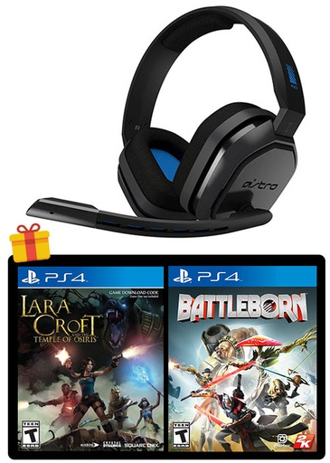 [676807] ASTRO PS4 A10 Gaming Headset Black/Blue + 2 Games